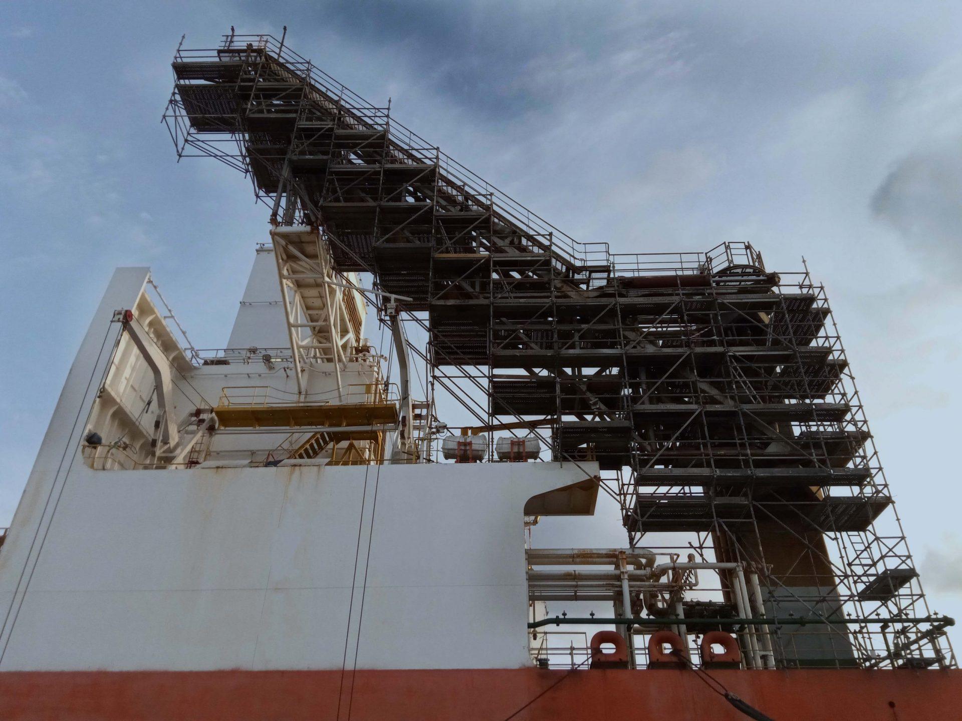 Flareboom scaffolding scaled