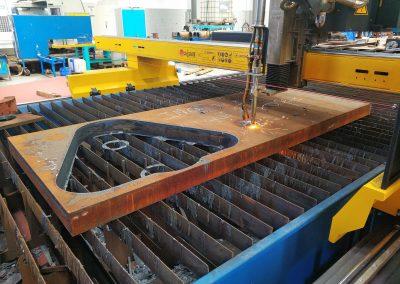 maquina de corte por oxicorte 100mm espesor