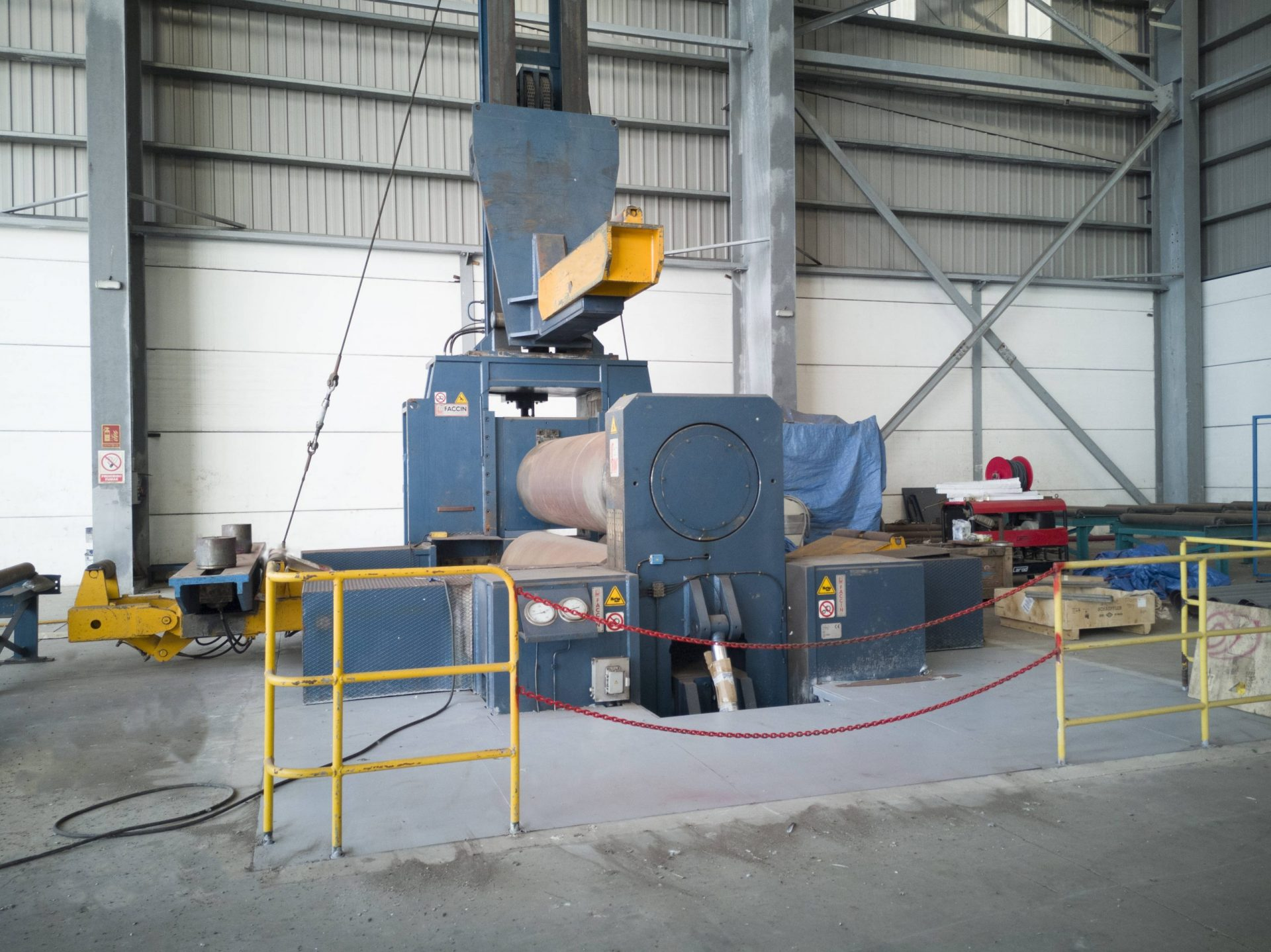 Rolling machine 150mm thickness scaled