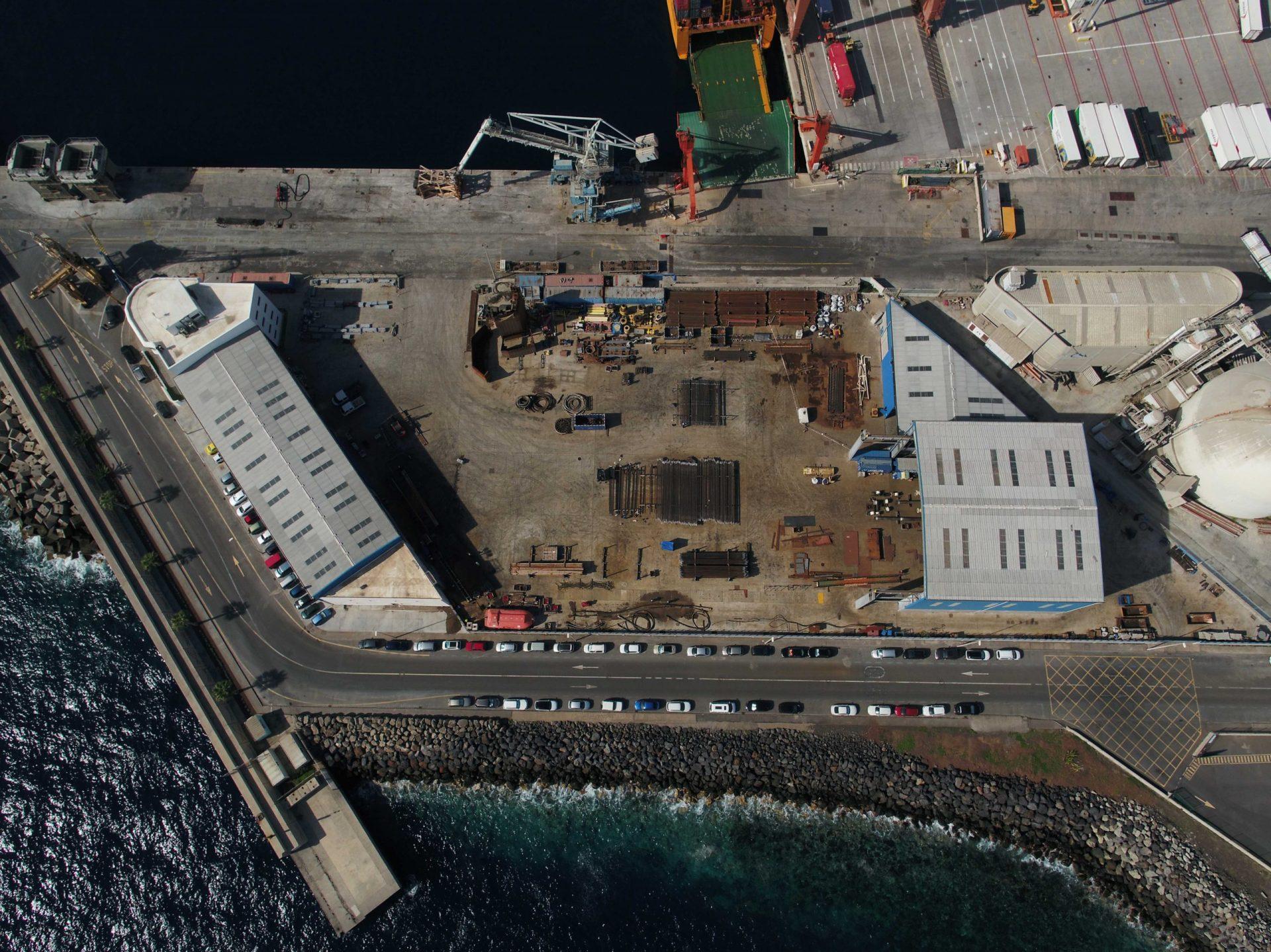 Tenerife shipyards Yard for subsea piles fabrication