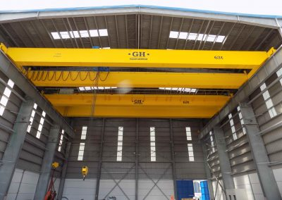 Gantry cranes 63 tons each 126 tons toal capacity