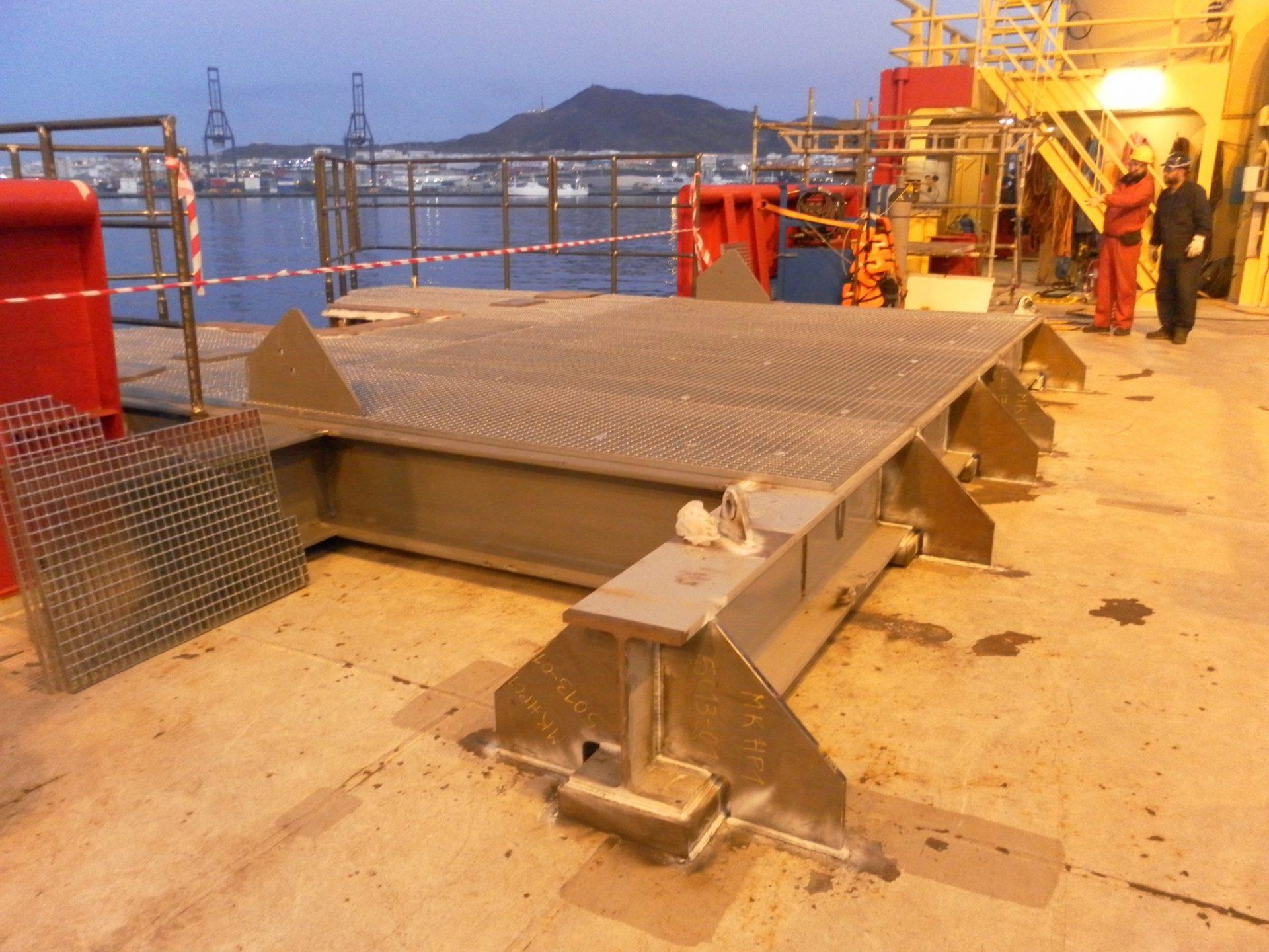 Hangoff Platform Sea Fastening 01 scaled