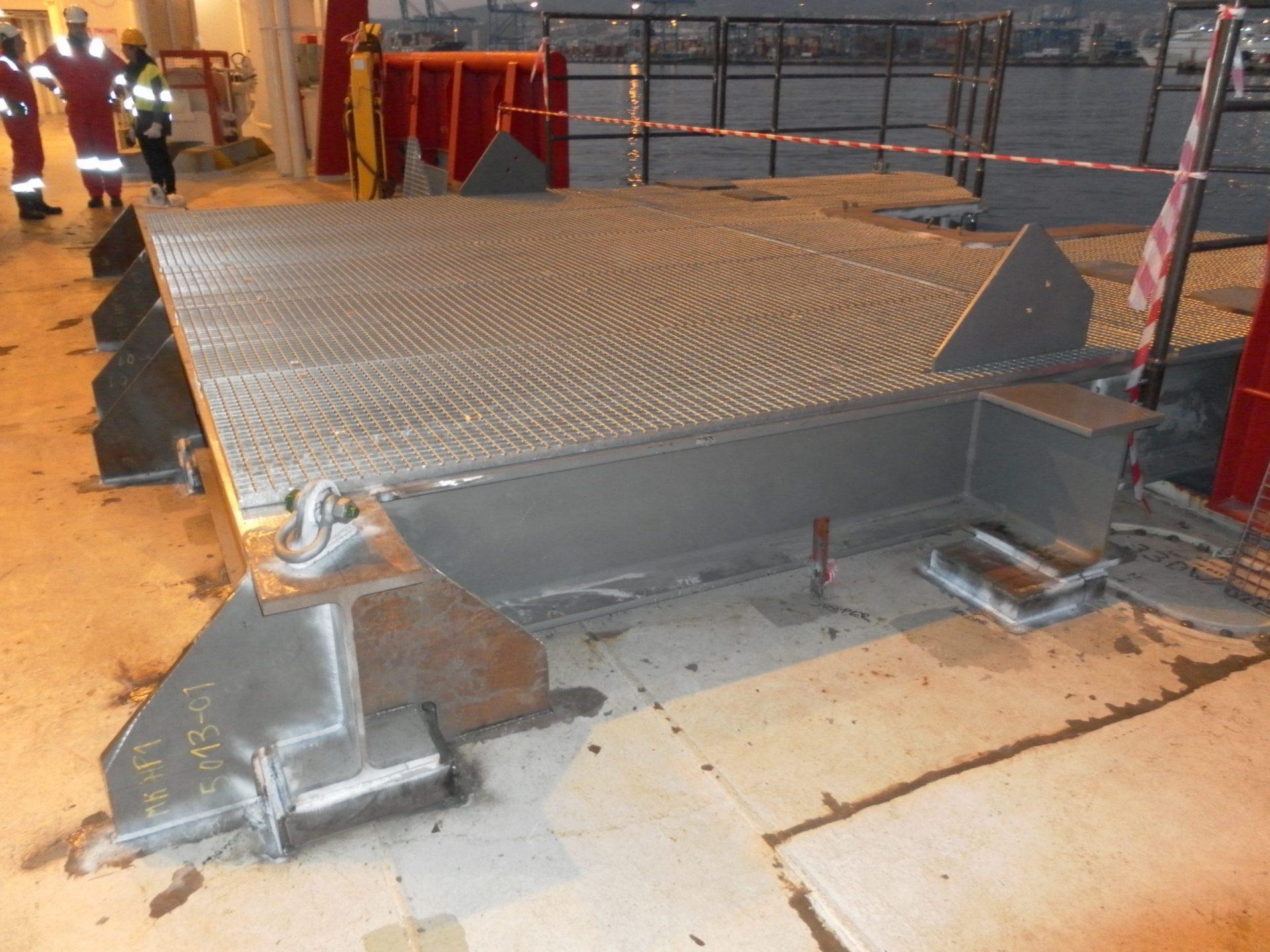 Hangoff Platform Sea Fastening 02 scaled