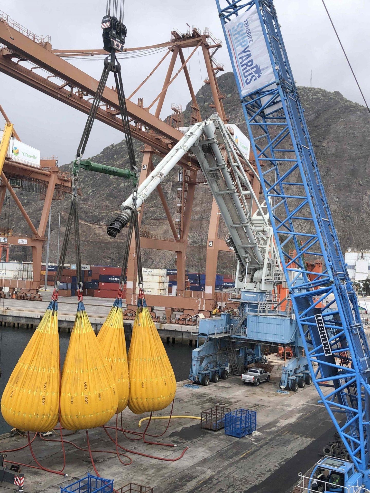 Load test 600 ton crane