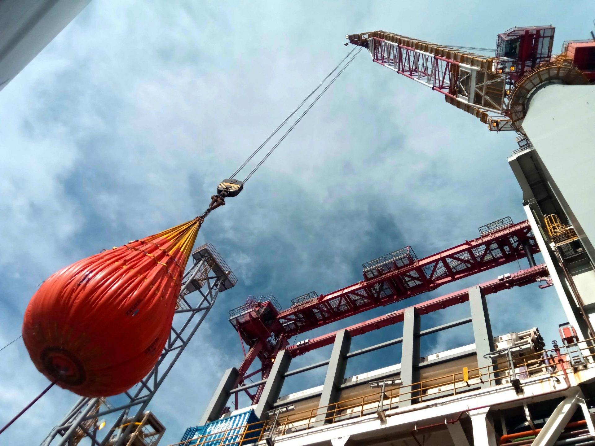 crane Load testing inspections tons Water Bags