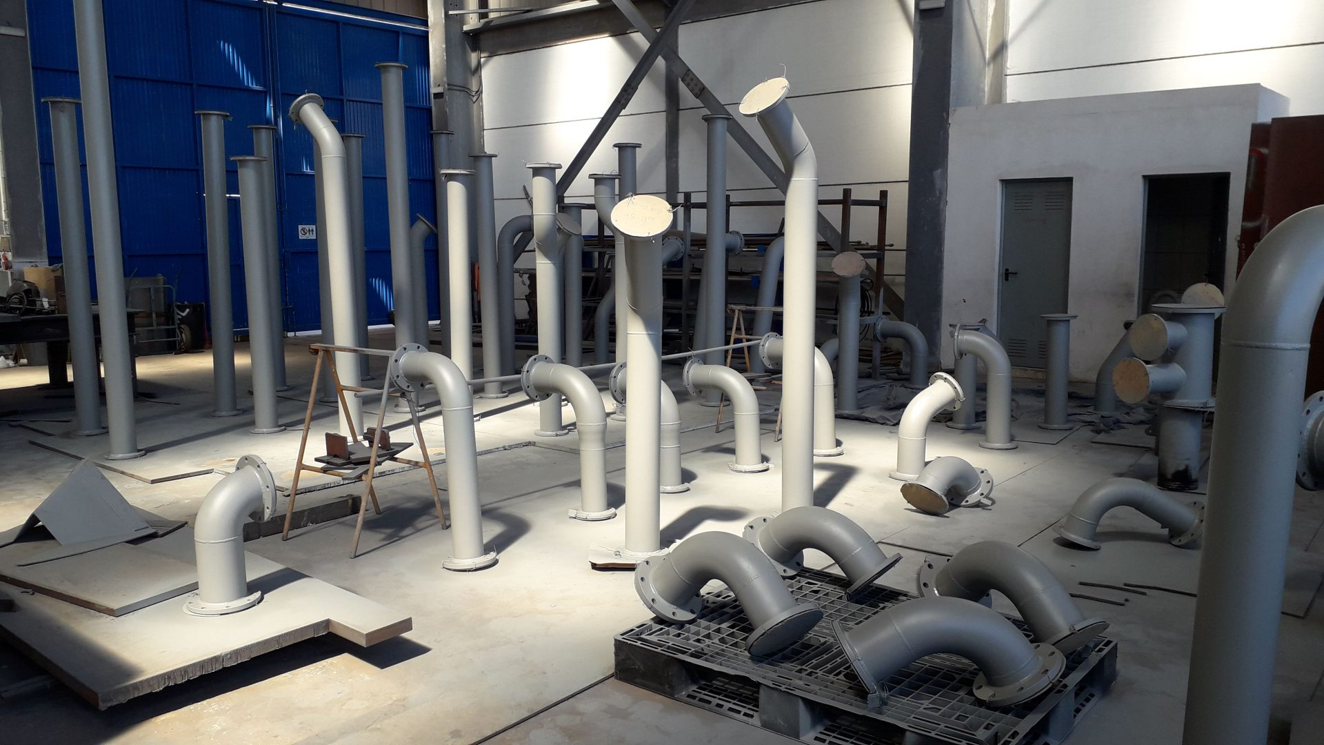 Pipe fabrication for BWTS