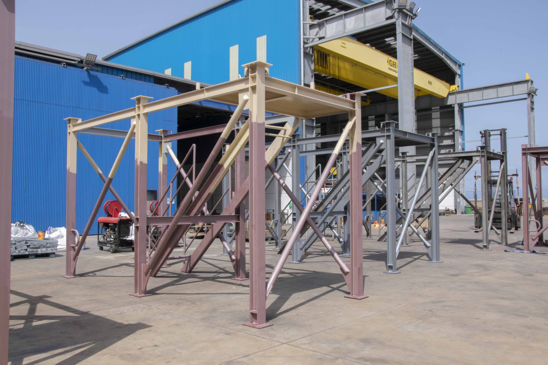 modules fabricated with blasting and painting process