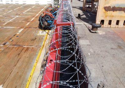 Anti piracy Razor wire