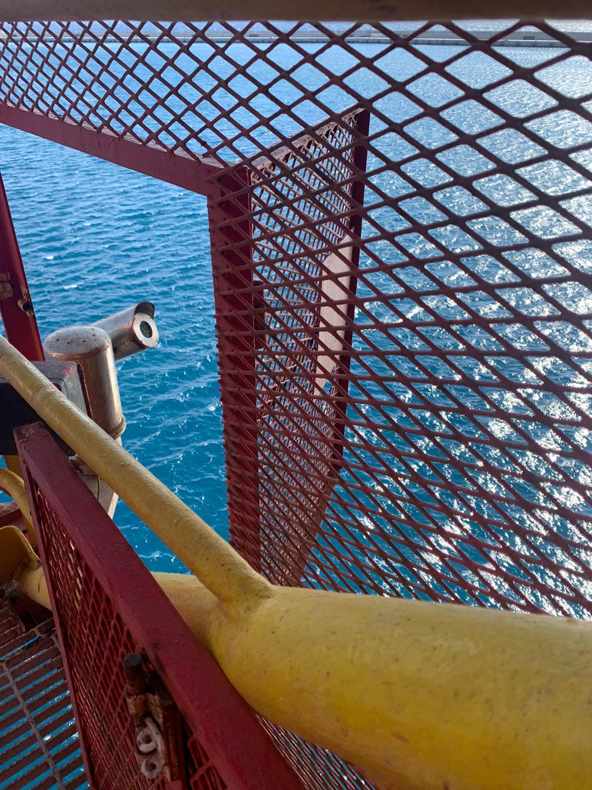 Stairwell grille vessel hardening