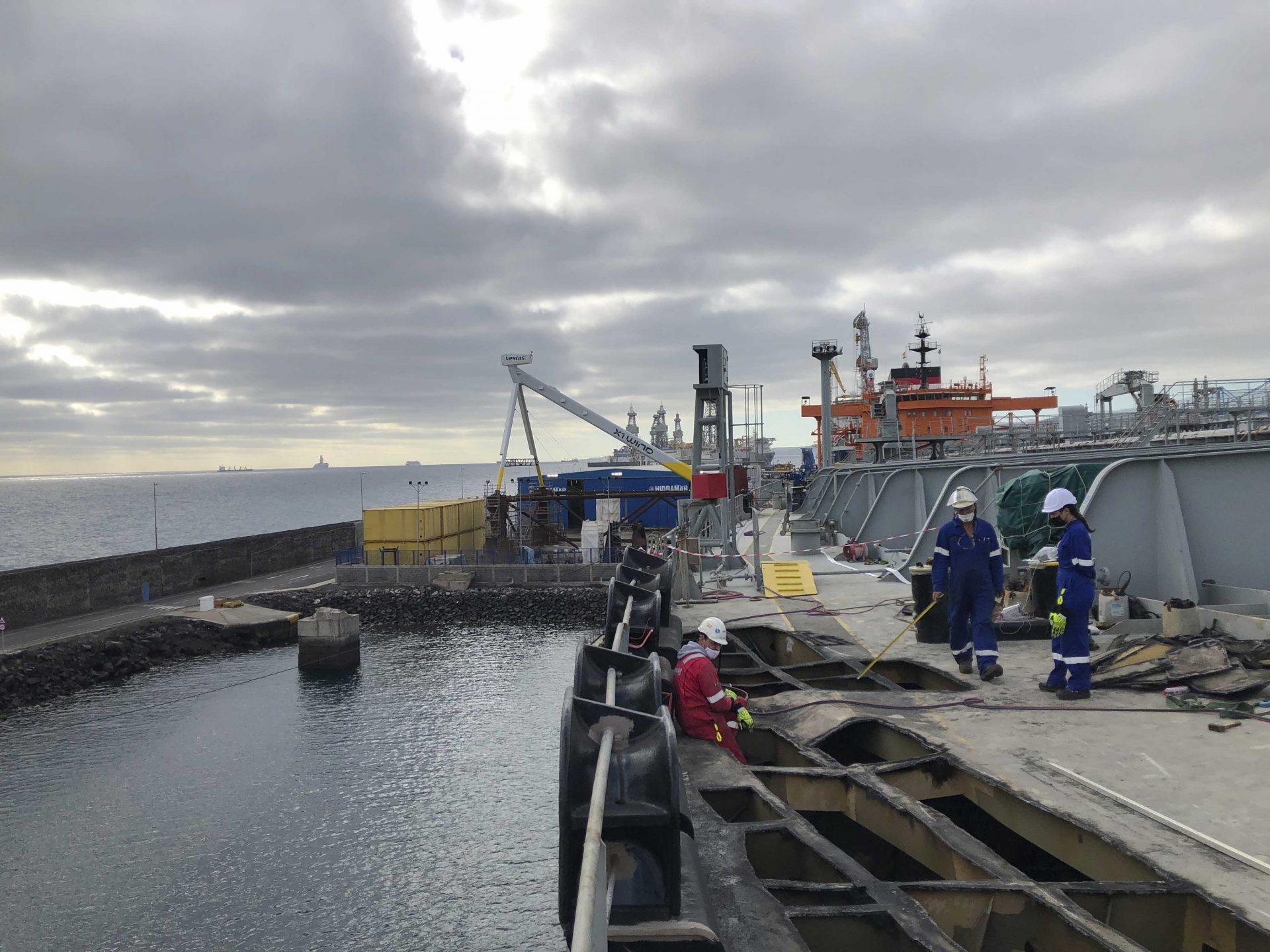 hidramar group takes on hull repair of a crude oil tanker vessel ship metal cutting 001 1