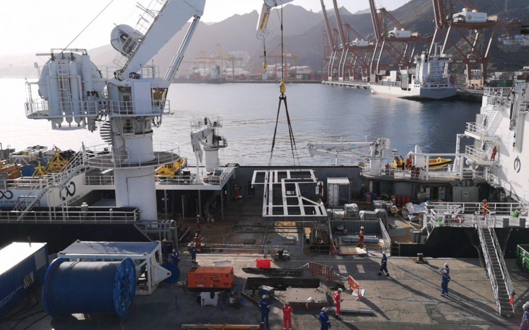 Grillage Uploading Tenerife Shipyards