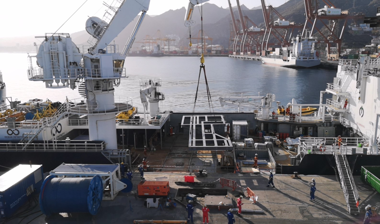 Grillage Uploading Tenerife Shipyards