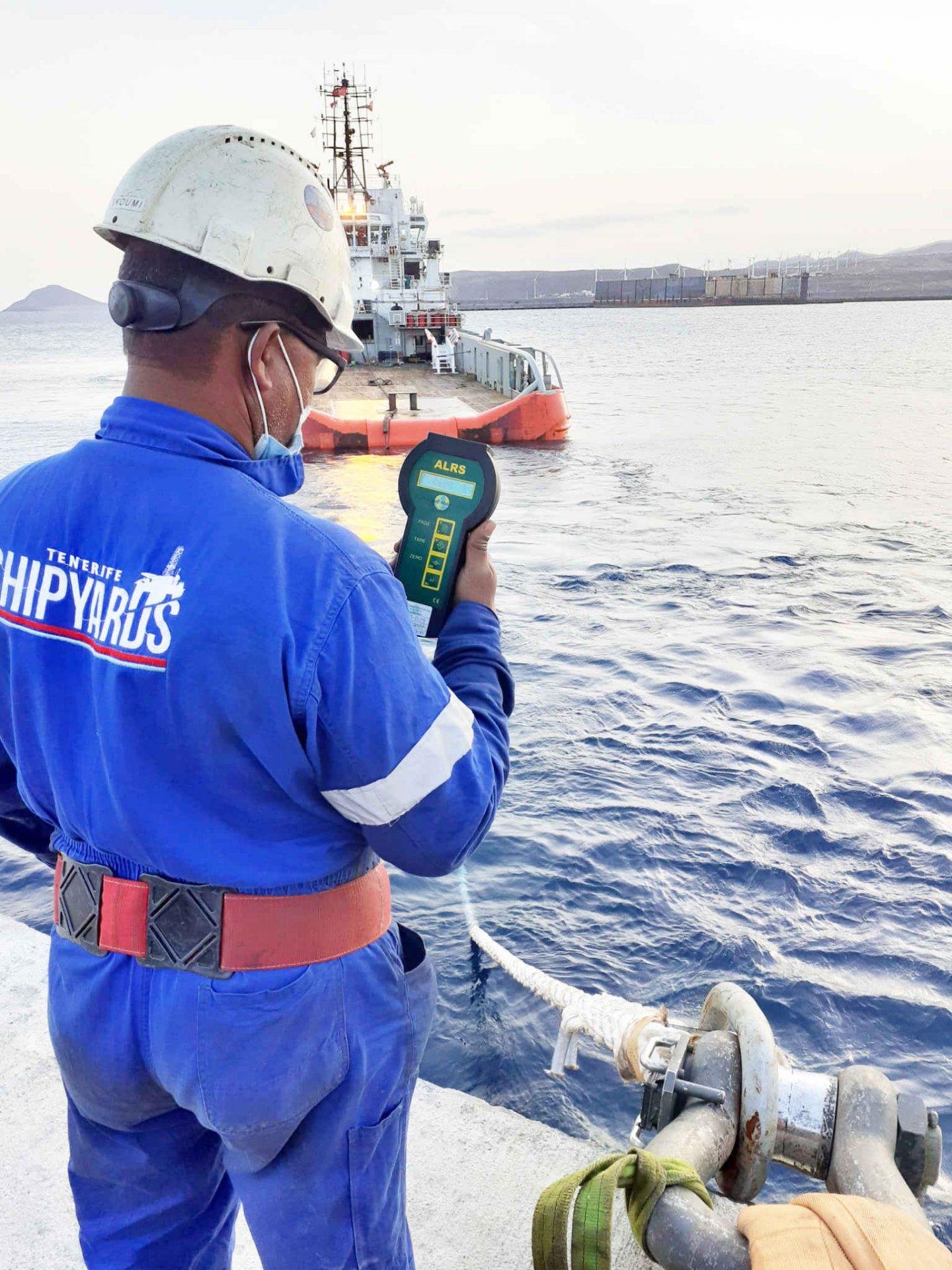 Bollard Pull test Granadilla Port Tenerife Shipyards