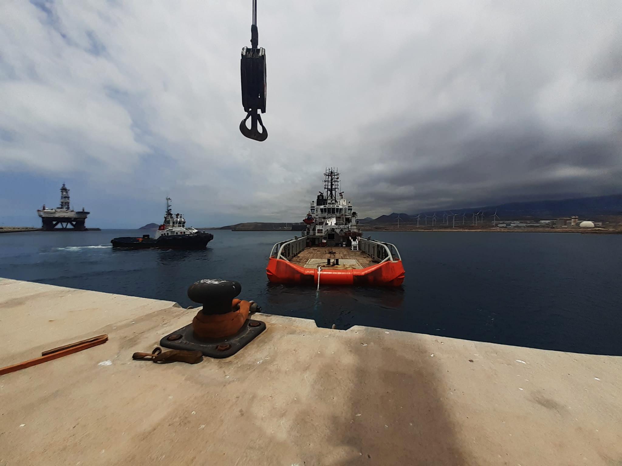 Bollard pull test in Tenerife by Tenerife Shipyards