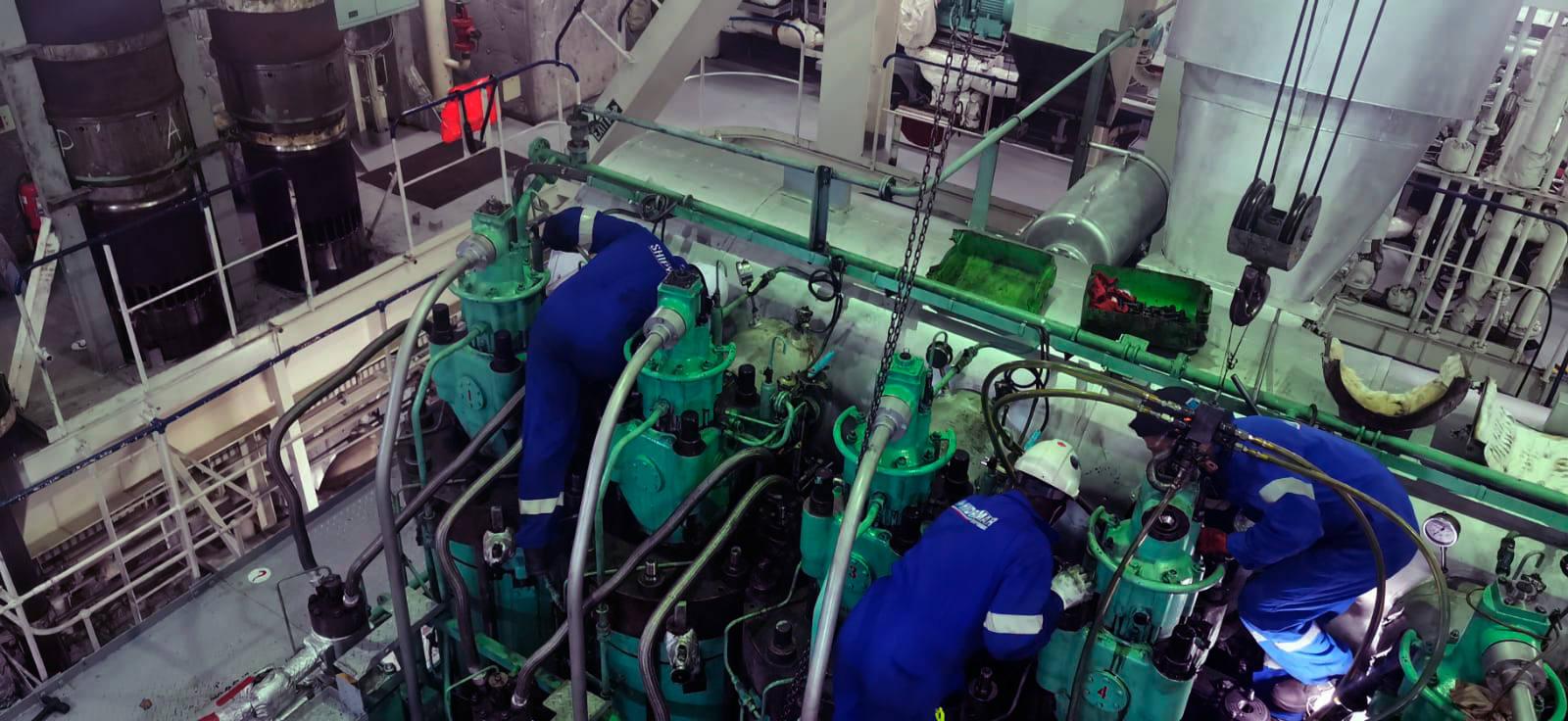 ship Main engine ovehaul