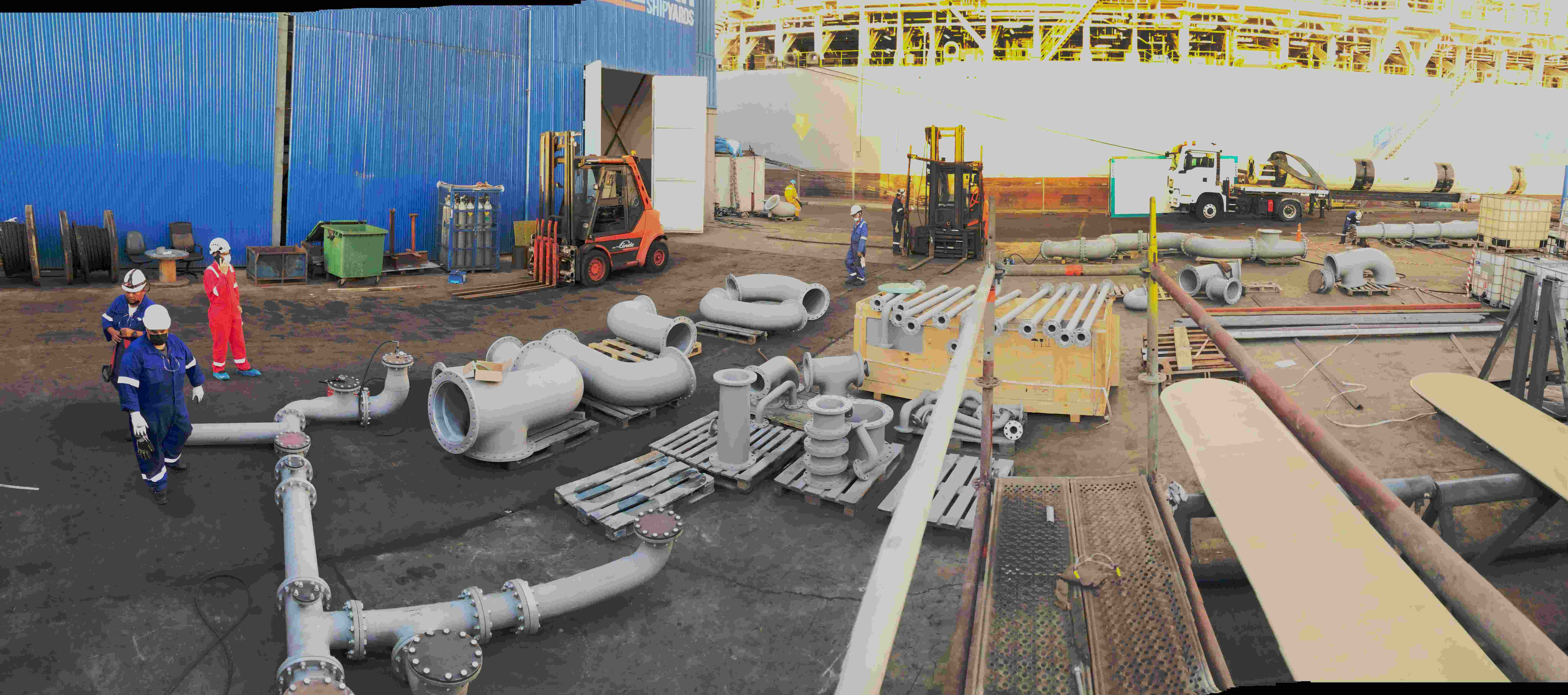 Ballast watert Treatment spools fabrication