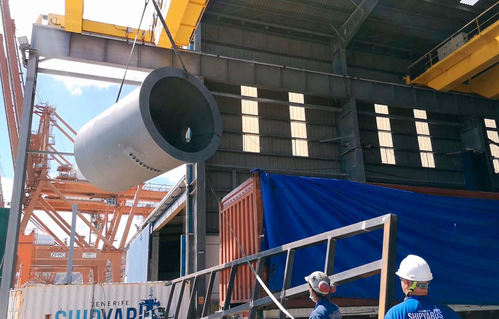 crane pedestal fabrication barge conversion